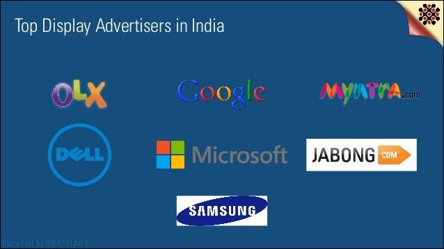 Top Display Advertisers in India  Story told by IDEATELABS