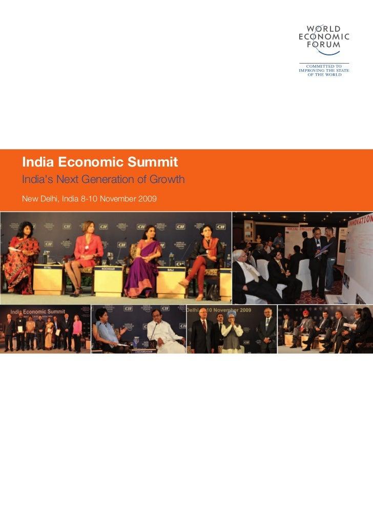 India Economic SummitIndias Next Generation of GrowthNew Delhi, India 8-10 November 2009