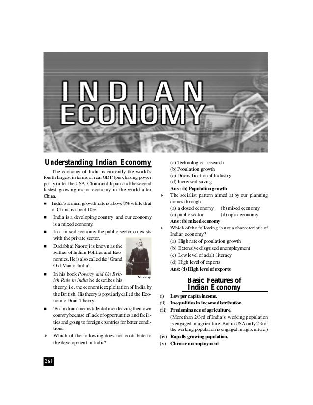 Understanding Indian Economy                                       (a) Technological research    The economy of India is c...