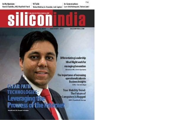 InMyopinion: navin Chaddha,MD, Mayfield Fund VCTalk: Vishal Mehta,Co-Founder,Lok Capital InConversation: Lars erik holmqui...
