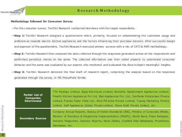 India Electric Kitchen Appliances Market Forecast 2013 2023 Brochure