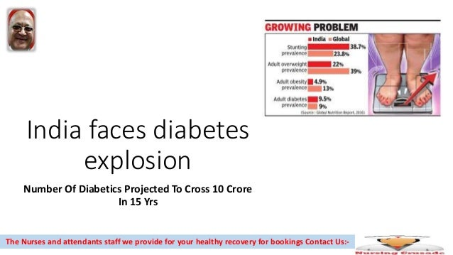India faces diabetes explosion Number Of Diabetics Projected To Cross 10 Crore In 15 Yrs The Nurses and attendants staff w...