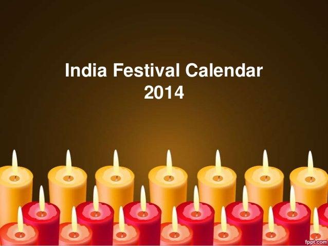 India Festival Calendar 2014