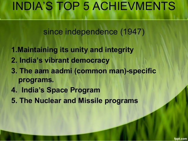 60 years of independence india s achievements As india completes 65 years of its independence on august 15,  from all over  the world pursued higher studies in more than 60 subjects.