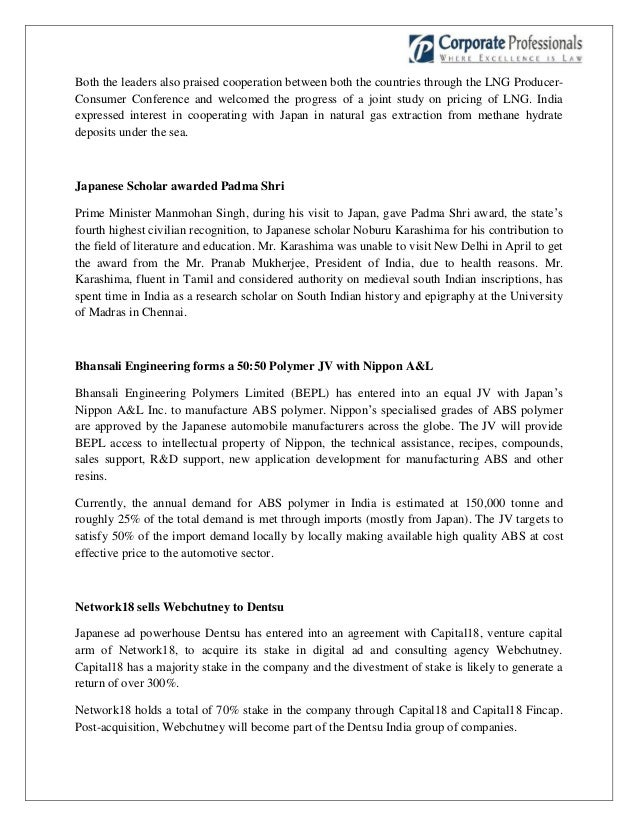 Indo-Japan Trade and Investment Bulletin May 2013