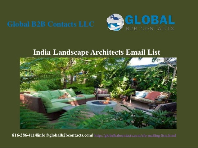 India Landscape Architects Email List