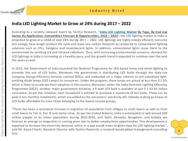India LED Lighting Market Forecast 2022