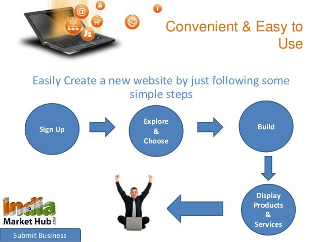Convenient & Easy to  Use  Easily Create a new website by just following some  simple steps  Sign Up  Submit Business  Exp...