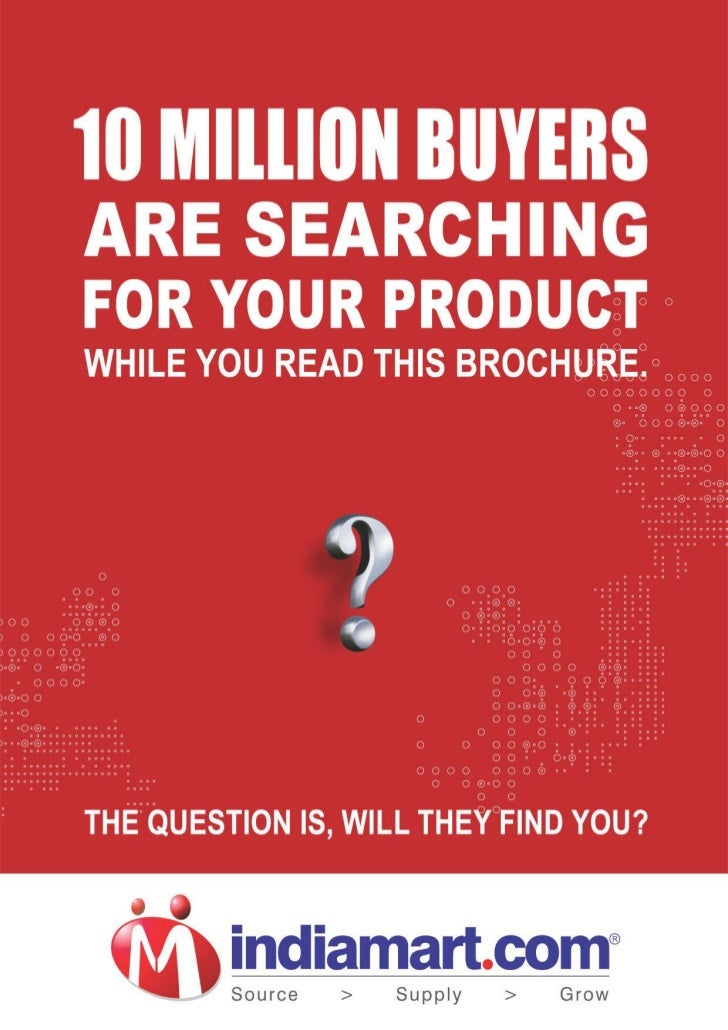 2010 IndiaMART Product Sales Brochure