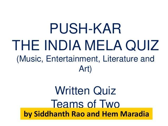 Pushkar: The India Mela Quiz