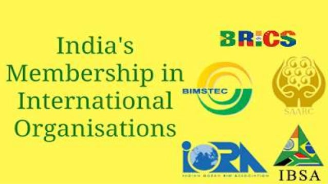 India membership in international organizations