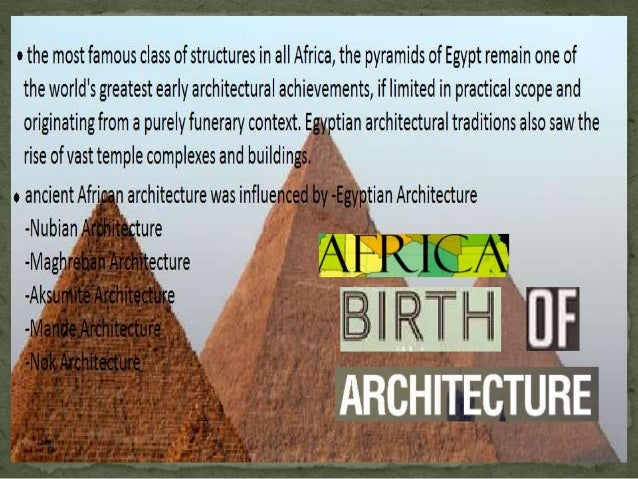 indian architecture vs african architecture