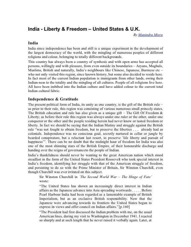India - Liberty & Freedom – United States & U.K.                                                                          ...