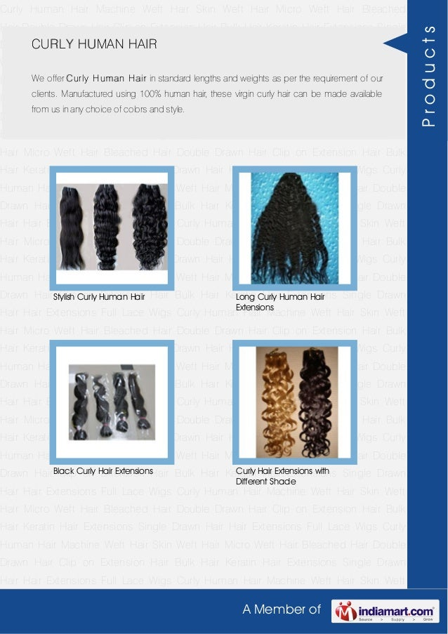 Curly Human Hair by Indian hair exports Slide 3
