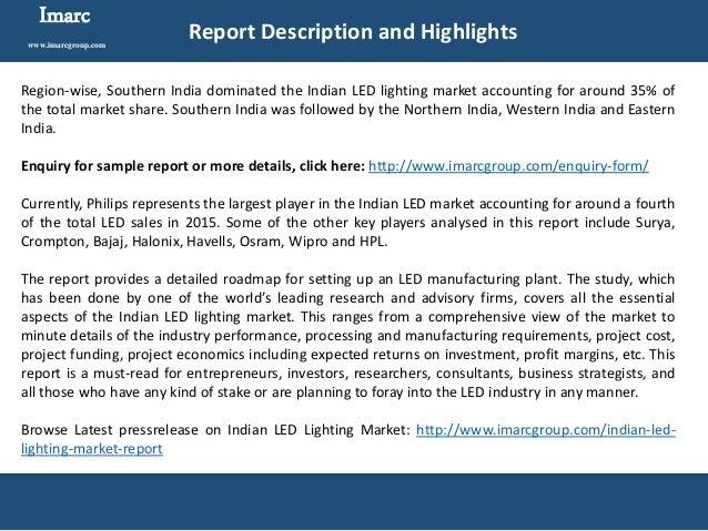 Indian Led Lighting Market 2016 2021 Industry Analysis