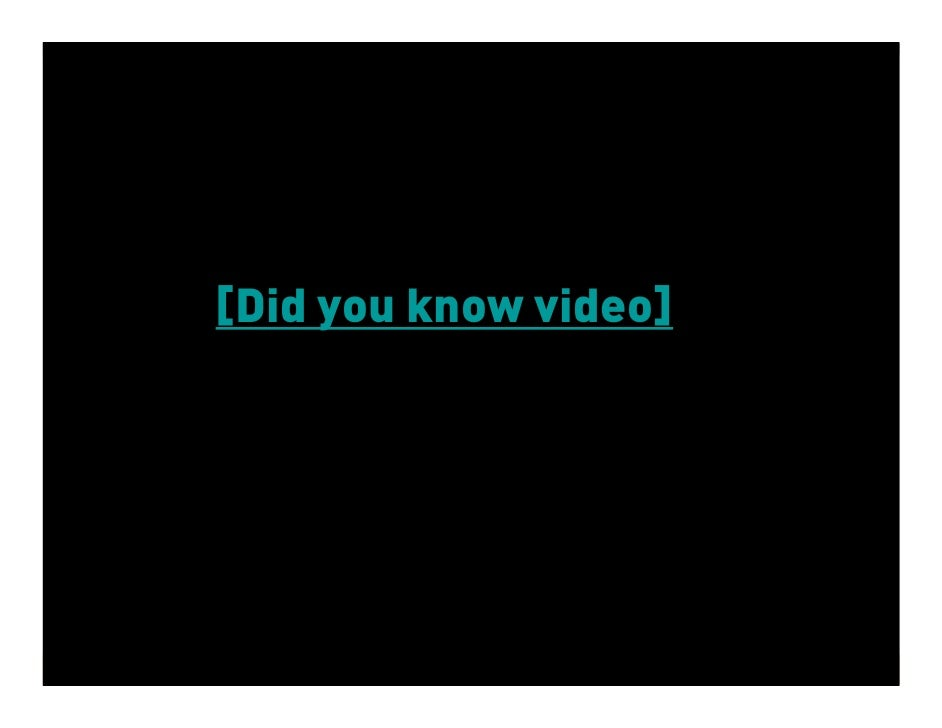 [Did you know video]