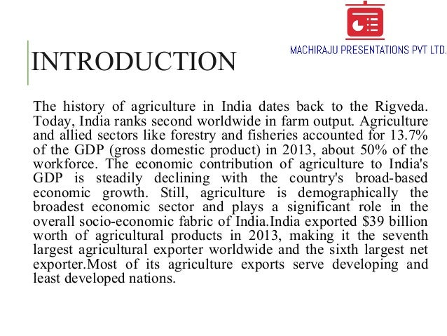 an introduction to the history of agriculture in china Review the history of biotechnology to learn more  in china, the first antibiotic, moldy soybean  un food and agriculture organization endorses biotech.