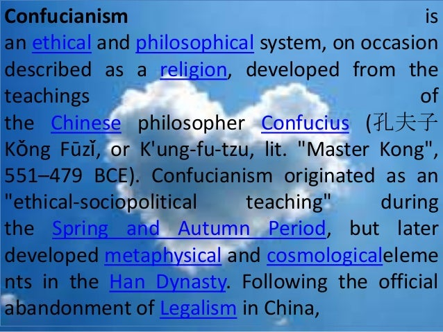 essay on confucianism daoism and legalism The nature of the legalism and its significance confucianism, daoism & legalism essay - amidst the chaos of political instability and constant warring of the.