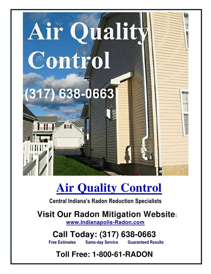 Air Quality ControlCentral Indiana's Radon Reduction Specialists<br />Visit Our Radon Mitigation Website:www.Indian...