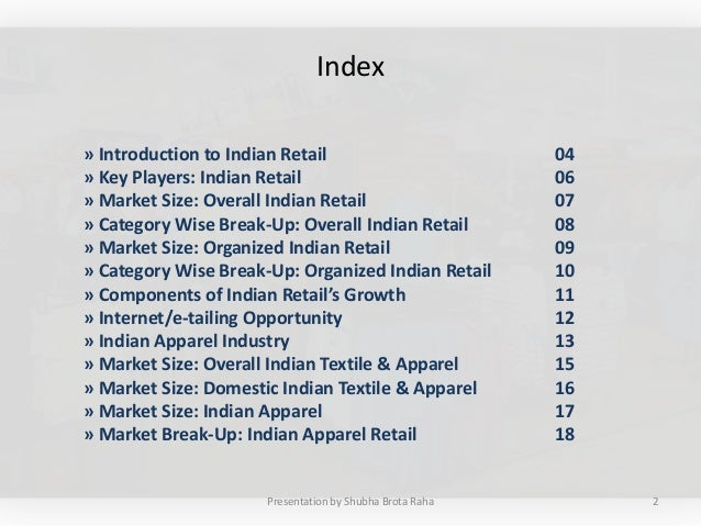 Apparel Retail in India Slide 2