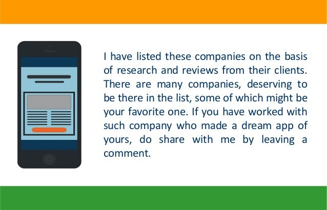 The List of Top 10 Indian Mobile App Development Companies