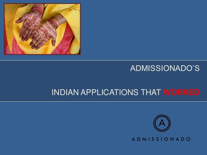 ADMISSIONADO'SINDIAN APPLICATIONS THAT WORKED