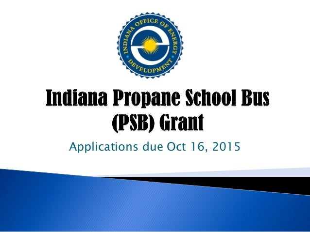 Applications due Oct 16, 2015