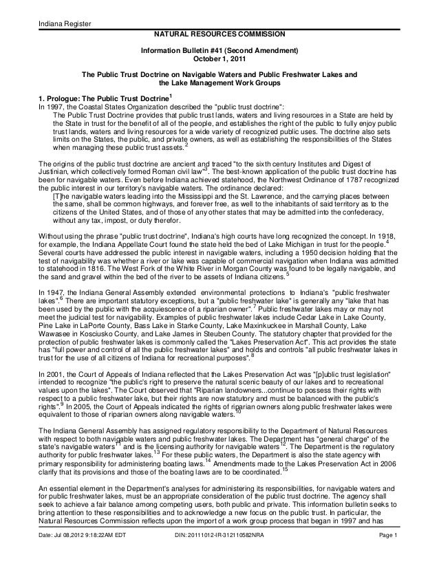 Indiana Register Date: Jul 08,2012 9:18:22AM EDT DIN: 20111012-IR-312110582NRA Page 1 NATURAL RESOURCES COMMISSION Informa...