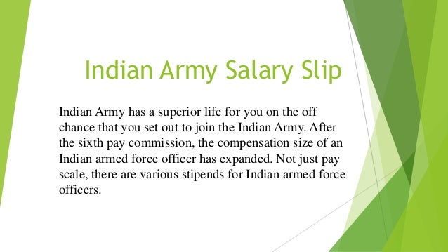 Indian army salary slip