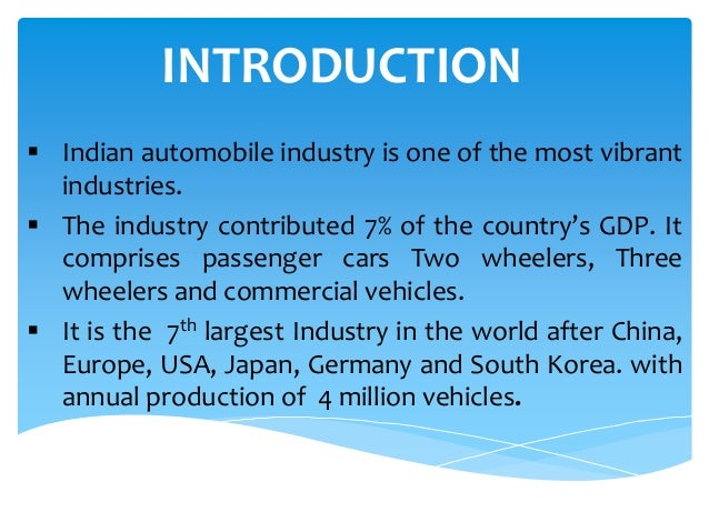 an introduction to the auto production industry 2011-06-06 the impact of new technologies on scale in manufacturing industry: issues and evidence by ludovico alcorta unu/intech working paper no 5 june 1992 contents 1 introduction 1  scale 5 3 the impact of new technologies on.