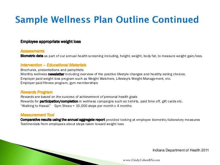 Wellness Program Template