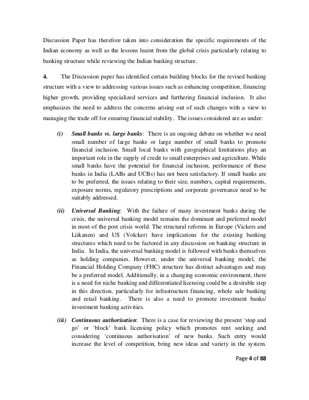 indian banking system essay Advertisements: the role of banks in economic development is to remove the deficiency of capital by stimulating savings and investment a sound banking system mobilizes the small and scattered savings of the community, and makes them available for investment in productive enterprises.