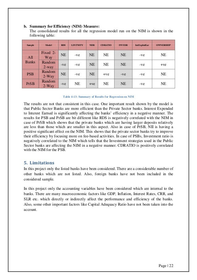 A Quantitative Analysis Of Indian Banks Performance And EfficiencyA