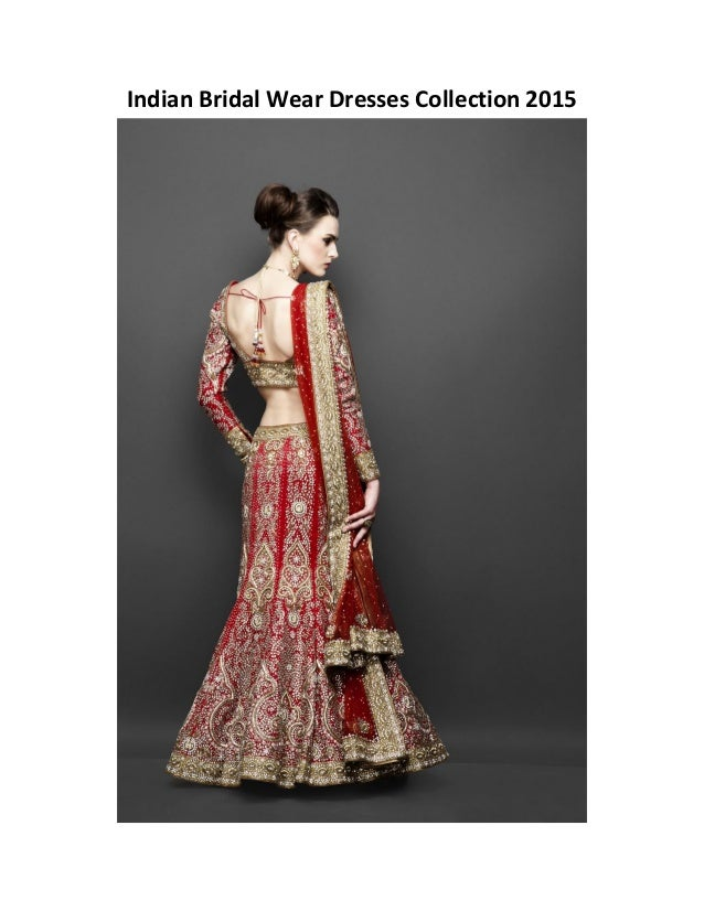 Indian bridal wear dresses collection 2015 for Indian wedding dresses usa