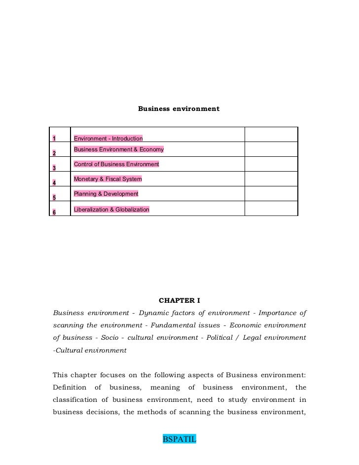 business environment economic systems fiscal