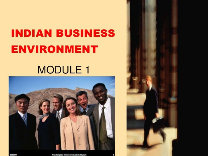 INDIAN BUSINESS ENVIRONMENT<br />MODULE 1<br />