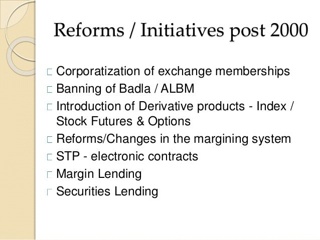 SEBI and the Capital Market Reforms in India