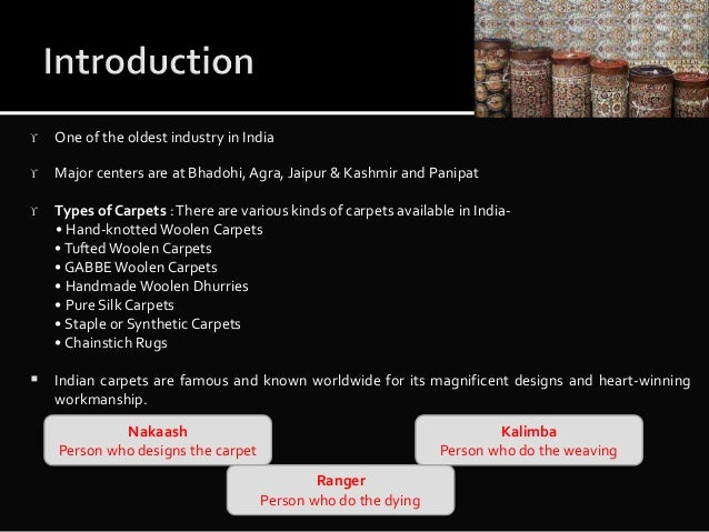 Indian carpet industry priyanka singh-d29-final