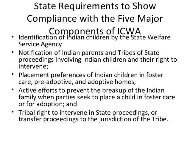 indian child welfare 1978: congress passes the indian child welfare act the indian child welfare  act seeks to keep american indian children in american indian families.