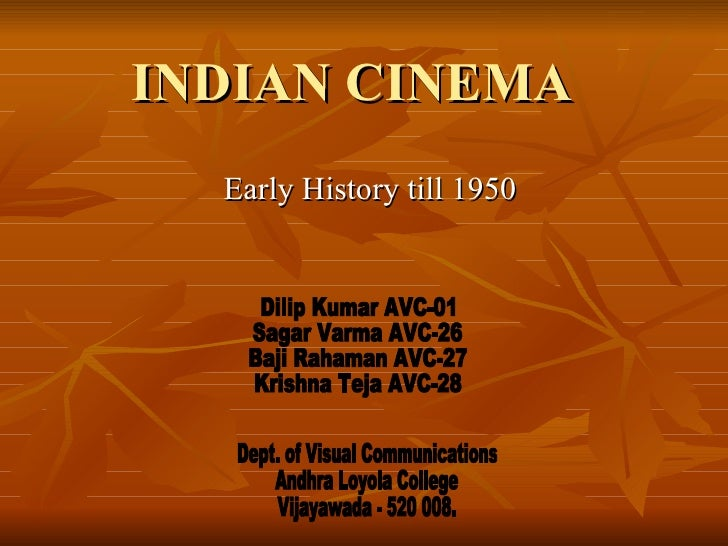 history of indian cinema Discover all statistics and data on film industry in india now on statistacom  amitabh bachchan, a popular indian actor in the 1970s, is the second richest bollywood actor, and the most followed personality from india on twitter as of september of 2016, the actor had about 18 million twitter followers although not listed amongst the richest.