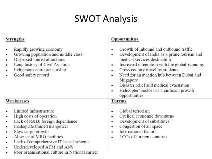 Swot analysis of international civil aviation organization