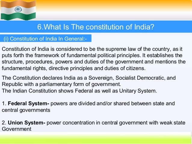history of indian constitution We also discussed parts of indian constitution taken from other countries that means the indian constitution is the mixture of the constitutions of other countries our country has adopted many things from other countries' constitutions.