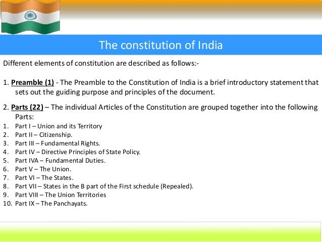 nature of indian constitution