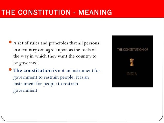 role of the united states constitution