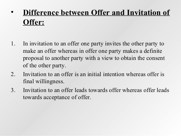 offer invitation to treat Law of contract example considering invitation to treat, offer and acceptance, intoxication of.