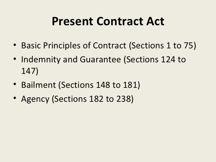 Contract Act 1872 Pdf