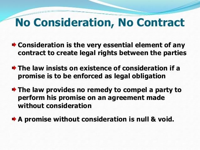 no consideration no contract explain