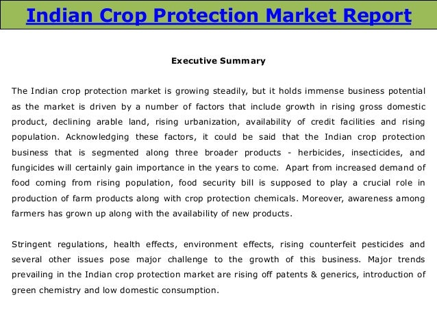 Indian Crop Protection Market: Trends and Opportunities (2014-2019) – New Report by Daedal Research Slide 3