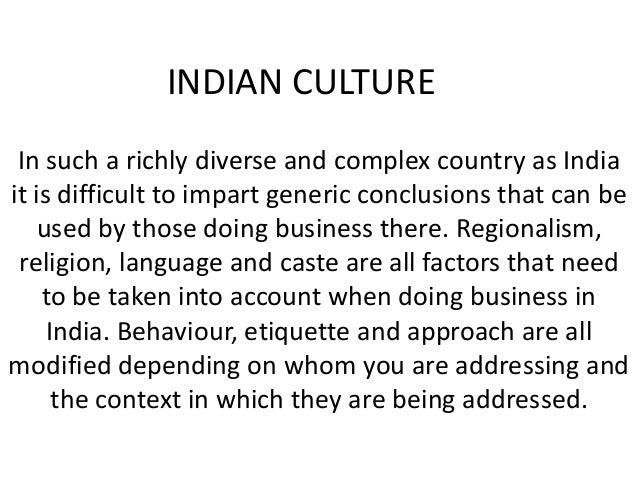 indian culture vs western culture