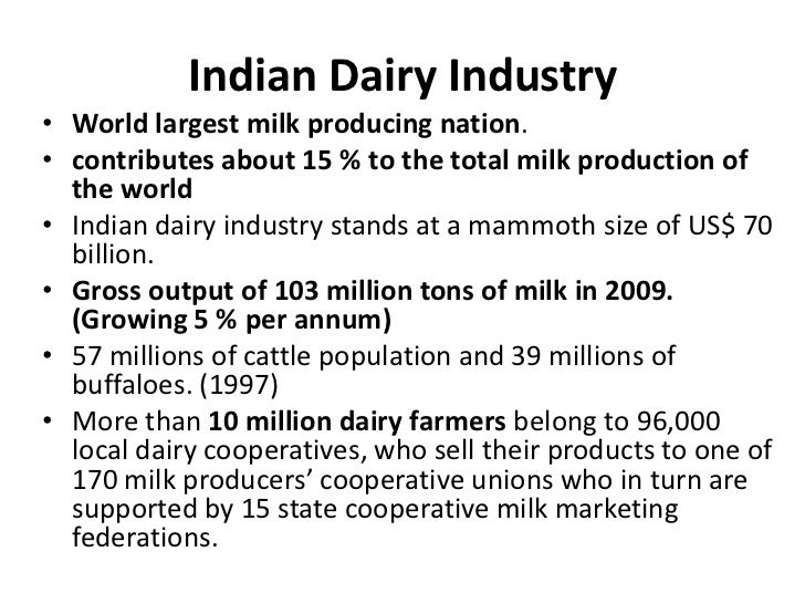 future of dairy industry in india The dairy industry in india is expected to grow, but growth will be restricted to individual small farmers  the future of the indian feed industry .